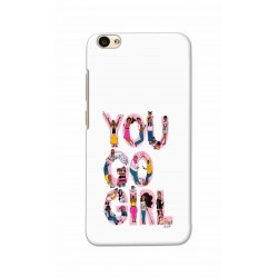 Crafting Crow Mobile Back Cover For Vivo V5 - You Go Girl