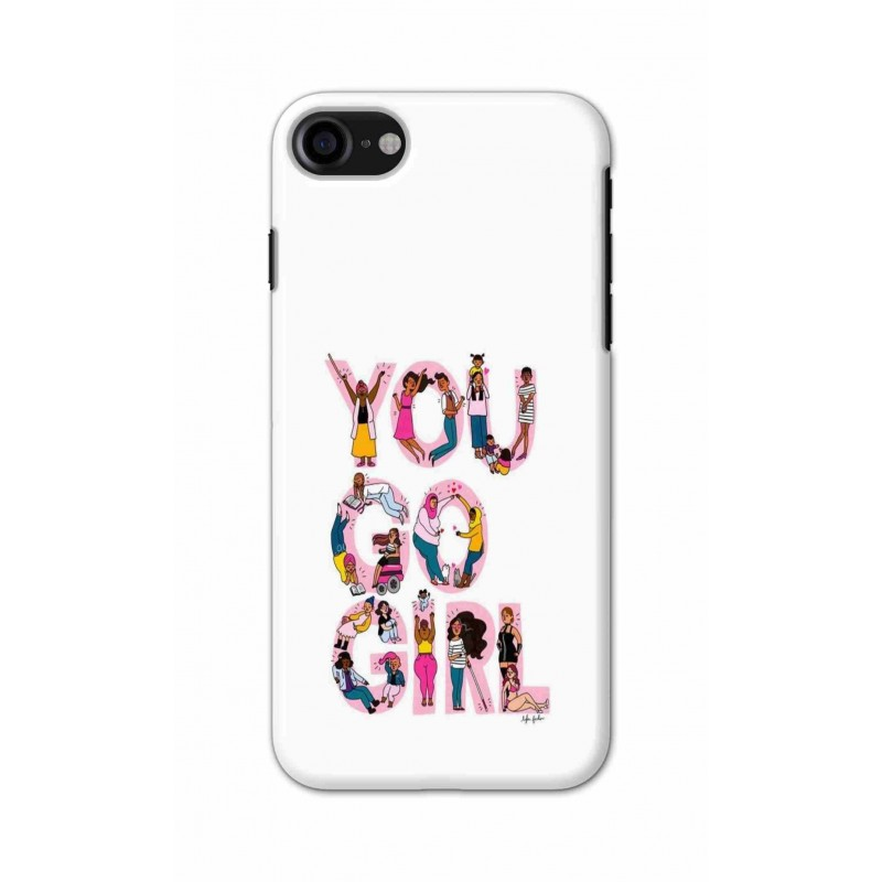 Crafting Crow Mobile Back Cover For Apple Iphone 7 - You Go Girl