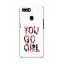 Crafting Crow Mobile Back Cover For Oppo F9 - You Go Girl