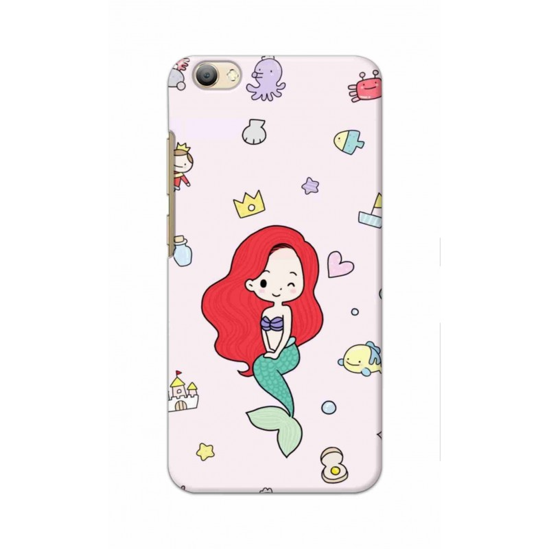 Crafting Crow Mobile Back Cover For Vivo V5s - Mermaid