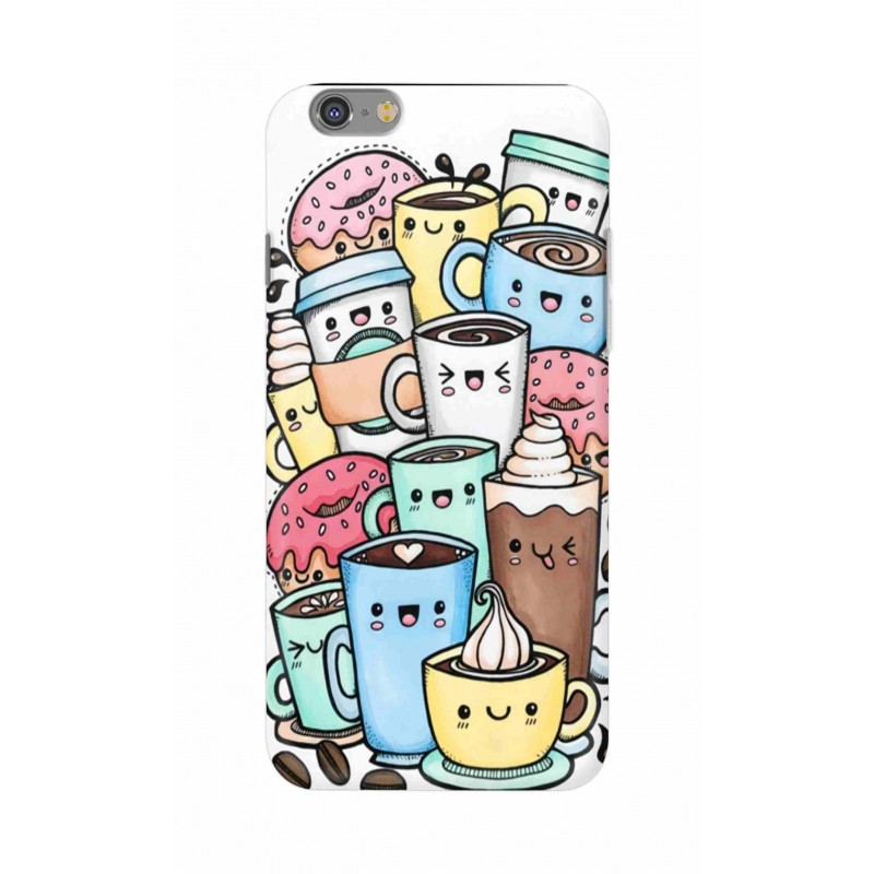 Crafting Crow Mobile Back Cover For Apple Iphone 6 - Kawaii Coffee