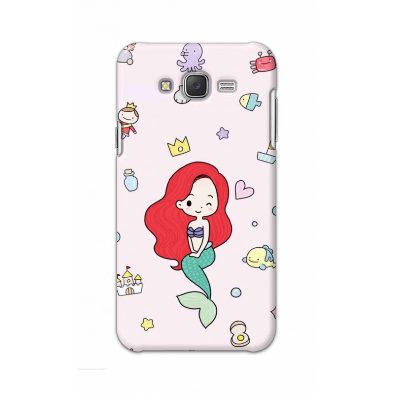 Crafting Crow Mobile Back Cover For Samsung Galaxy J7 - Mermaid