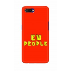 Crafting Crow Mobile Back Cover For Oppo K1 - EW People