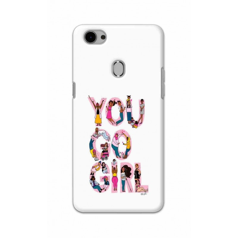 Crafting Crow Mobile Back Cover For Oppo F7 - You Go Girl