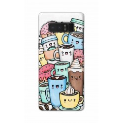 Crafting Crow Mobile Back Cover For Samsung Note 8 - Kawaii Coffee