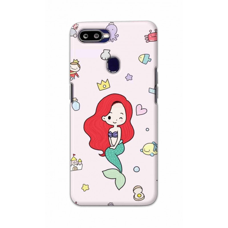 Crafting Crow Mobile Back Cover For Oppo F9 - Mermaid