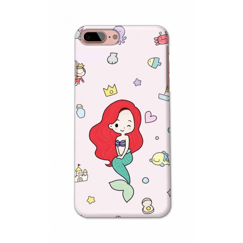 Crafting Crow Mobile Back Cover For Apple Iphone 8 Plus - Mermaid