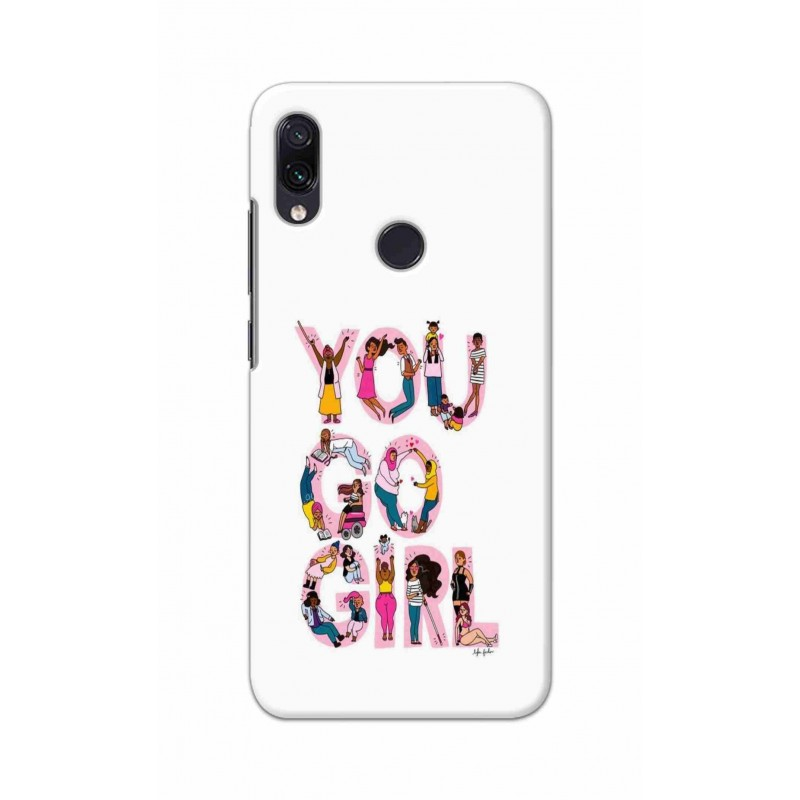 Crafting Crow Mobile Back Cover For Xiaomi Redmi Note 7 - You Go Girl