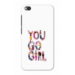 Crafting Crow Mobile Back Cover For Xiaomi Redmi Go - You Go Girl