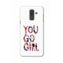 Crafting Crow Mobile Back Cover For Samsung A6 Plus - You Go Girl