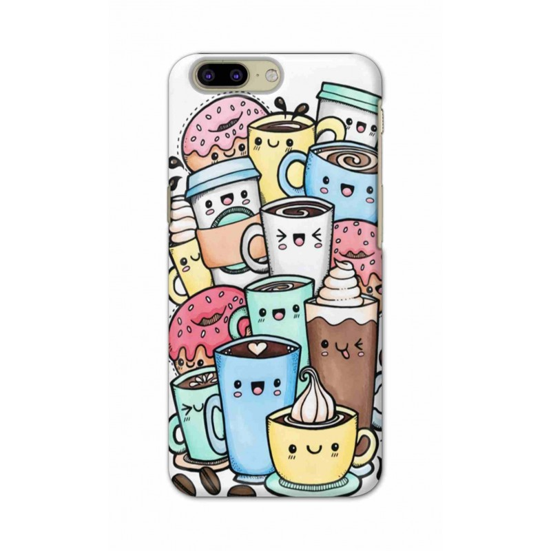 Crafting Crow Mobile Back Cover For OnePlus 5 - Kawaii Coffee