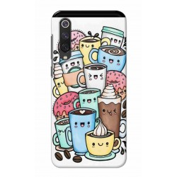 Crafting Crow Mobile Back Cover For Xiaomi Mi 9 SE - Kawaii Coffee