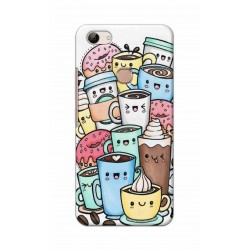 Crafting Crow Mobile Back Cover For Vivo Y83 - Kawaii Coffee