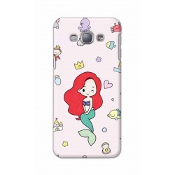 Crafting Crow Mobile Back Cover For Samsung Galaxy A8 - Mermaid