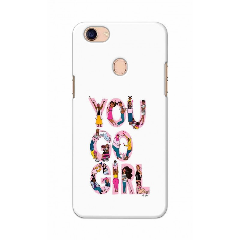 Crafting Crow Mobile Back Cover For Oppo F5 - You Go Girl