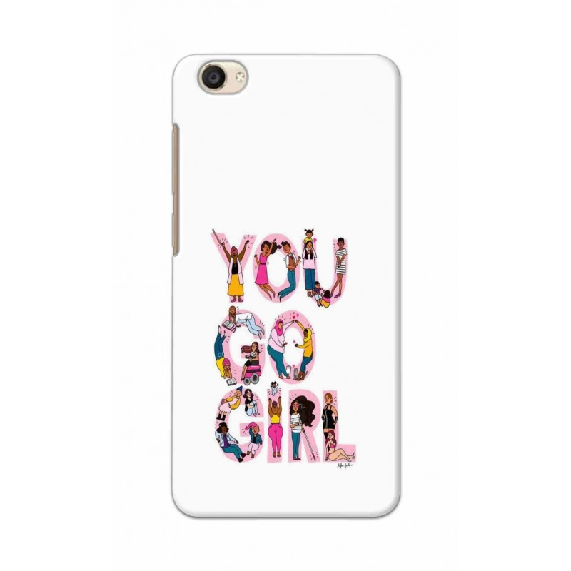 Crafting Crow Mobile Back Cover For Vivo Y55 - You Go Girl