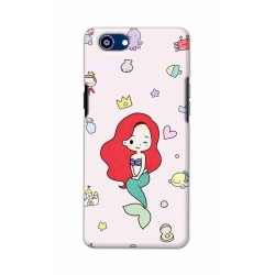 Crafting Crow Mobile Back Cover For Oppo Realme 1 - Mermaid