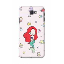 Crafting Crow Mobile Back Cover For Samsung Galaxy J7 Prime - Mermaid