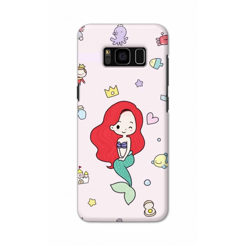Crafting Crow Mobile Back Cover For Samsung S8 - Mermaid