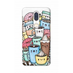 Crafting Crow Mobile Back Cover For One Plus 6 - Kawaii Coffee