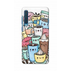 Crafting Crow Mobile Back Cover For Samsung Galaxy A9 2018 - Kawaii Coffee
