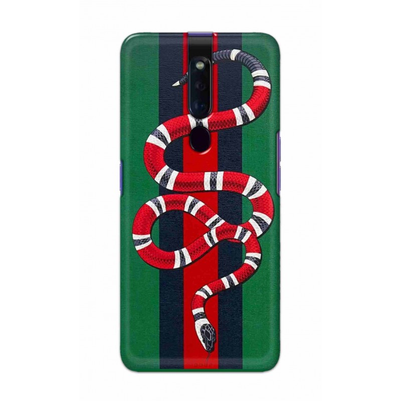 Crafting Crow Mobile Back Cover For Oppo F11 Pro - Snake