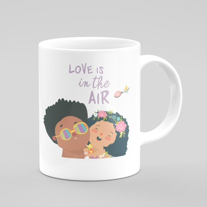 Buy Love Is In The Air Mug Online at Craftingcrow.com