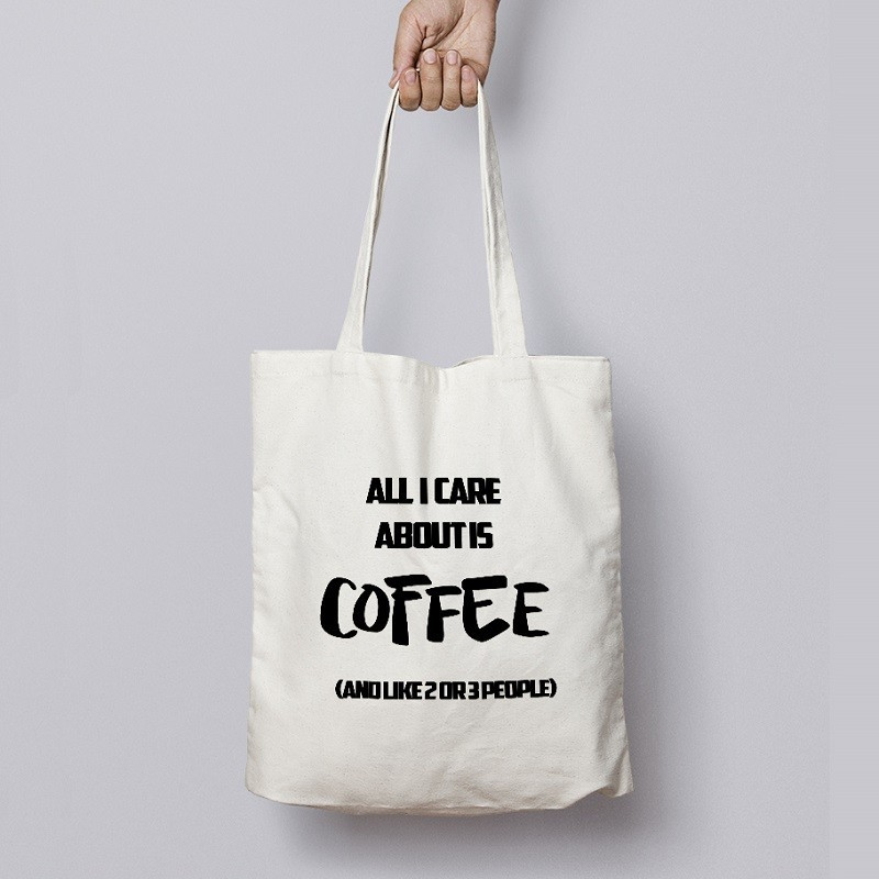 Buy Care About Coffee Tote Bags Online at Craftingcrow.com