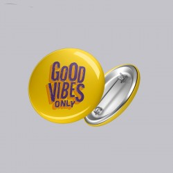 Buy Good Vibes Button Badges Online at Craftingcrow.com