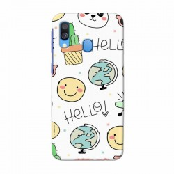 Buy Samsung Galaxy A40 Hello Mobile Phone Covers Online at Craftingcrow.com