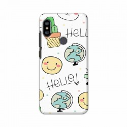 Buy Xiaomi Redmi Note 6 Pro Hello Mobile Phone Covers Online at Craftingcrow.com
