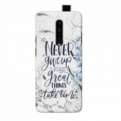 Buy One Plus 7 Pro Never Give Up Mobile Phone Covers Online at Craftingcrow.com