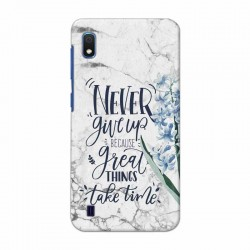 Buy Samsung Galaxy A10 Never Give Up Mobile Phone Covers Online at Craftingcrow.com