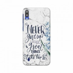 Buy Samsung Galaxy M10 Never Give Up Mobile Phone Covers Online at Craftingcrow.com