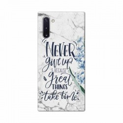 Buy Samsung Galaxy Note 10 Never Give Up Mobile Phone Covers Online at Craftingcrow.com