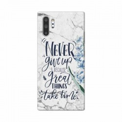 Buy Samsung Galaxy Note 10 Pro Never Give Up Mobile Phone Covers Online at Craftingcrow.com