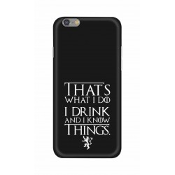 Crafting Crow Mobile Back Cover For Apple Iphone 6 - I Drink