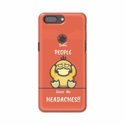 Buy One Plus 5t Headaches Mobile Phone Covers Online at Craftingcrow.com