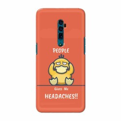 Buy Oppo Reno 10x Zoom Headaches Mobile Phone Covers Online at Craftingcrow.com