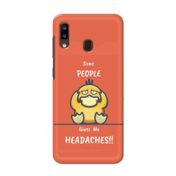 Buy Samsung Galaxy A20 Headaches Mobile Phone Covers Online at Craftingcrow.com