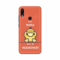Buy Xiaomi Redmi Note 7 Headaches Mobile Phone Covers Online at Craftingcrow.com