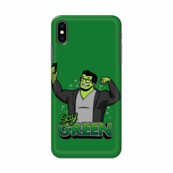 Buy Apple Iphone XS Say Green Mobile Phone Covers Online at Craftingcrow.com