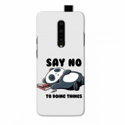 Buy One Plus 7 Pro Say No Mobile Phone Covers Online at Craftingcrow.com