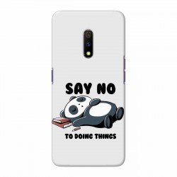 Buy Oppo Realme X Say No Mobile Phone Covers Online at Craftingcrow.com