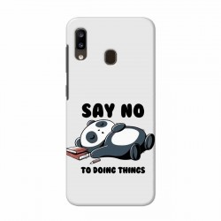 Buy Samsung Galaxy A20 Say No Mobile Phone Covers Online at Craftingcrow.com