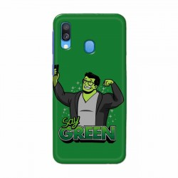 Buy Samsung Galaxy A40 Say Green Mobile Phone Covers Online at Craftingcrow.com