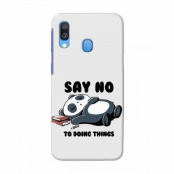 Buy Samsung Galaxy A40 Say No Mobile Phone Covers Online at Craftingcrow.com