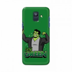 Buy Samsung Galaxy A6 2018 Say Green Mobile Phone Covers Online at Craftingcrow.com