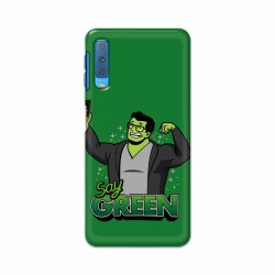 Buy Samsung Galaxy A7 2018 Say Green Mobile Phone Covers Online at Craftingcrow.com