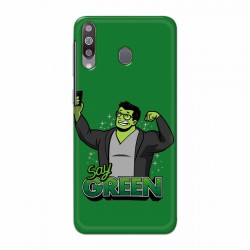 Buy Samsung Galaxy M30 Say Green Mobile Phone Covers Online at Craftingcrow.com